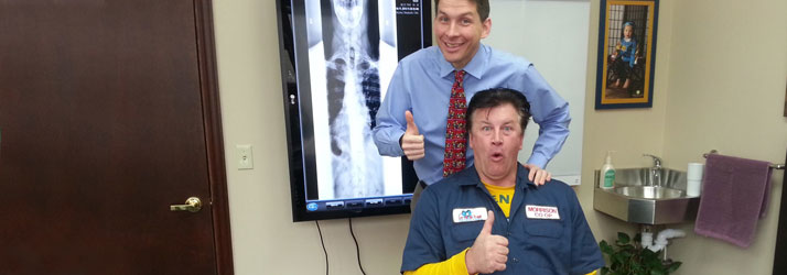 Chiropractor De Pere WI Nathan DeLorey and Happy Patient